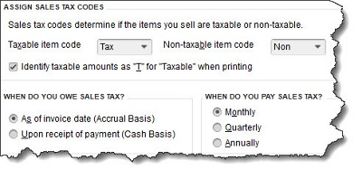 Assign Sales Tax Codes