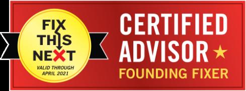 Certified Founding Fix This Next Advisor