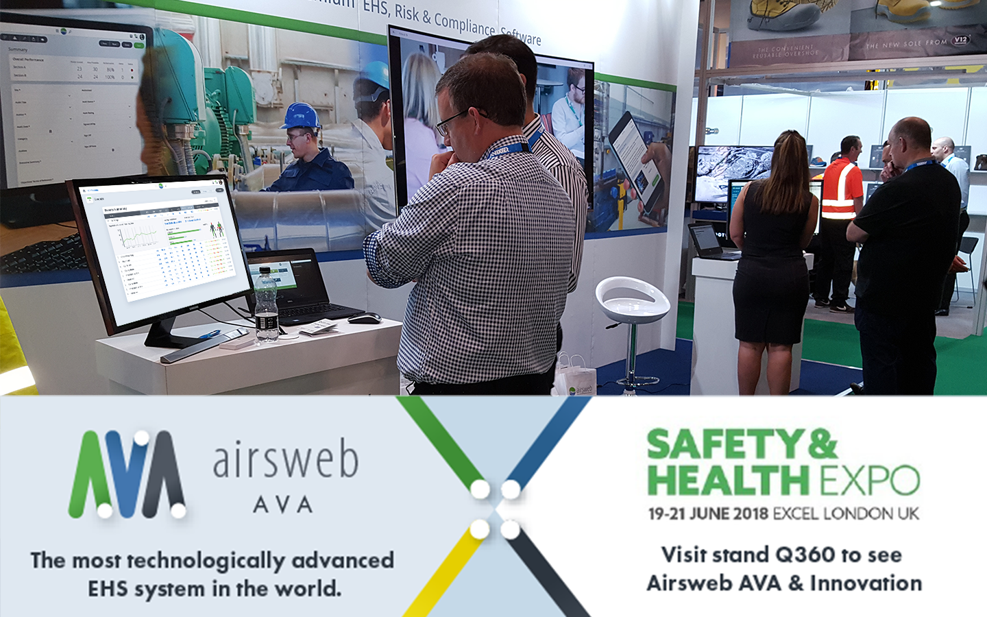 AVA demo at the Safety & Health Expo