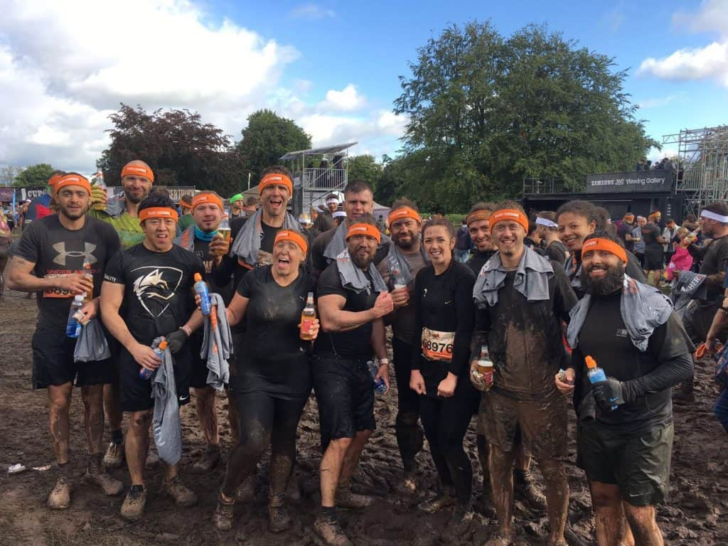Airsweb team taking part in Tough Mudder