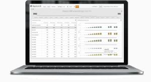 Laptop displaying AVA dashboard