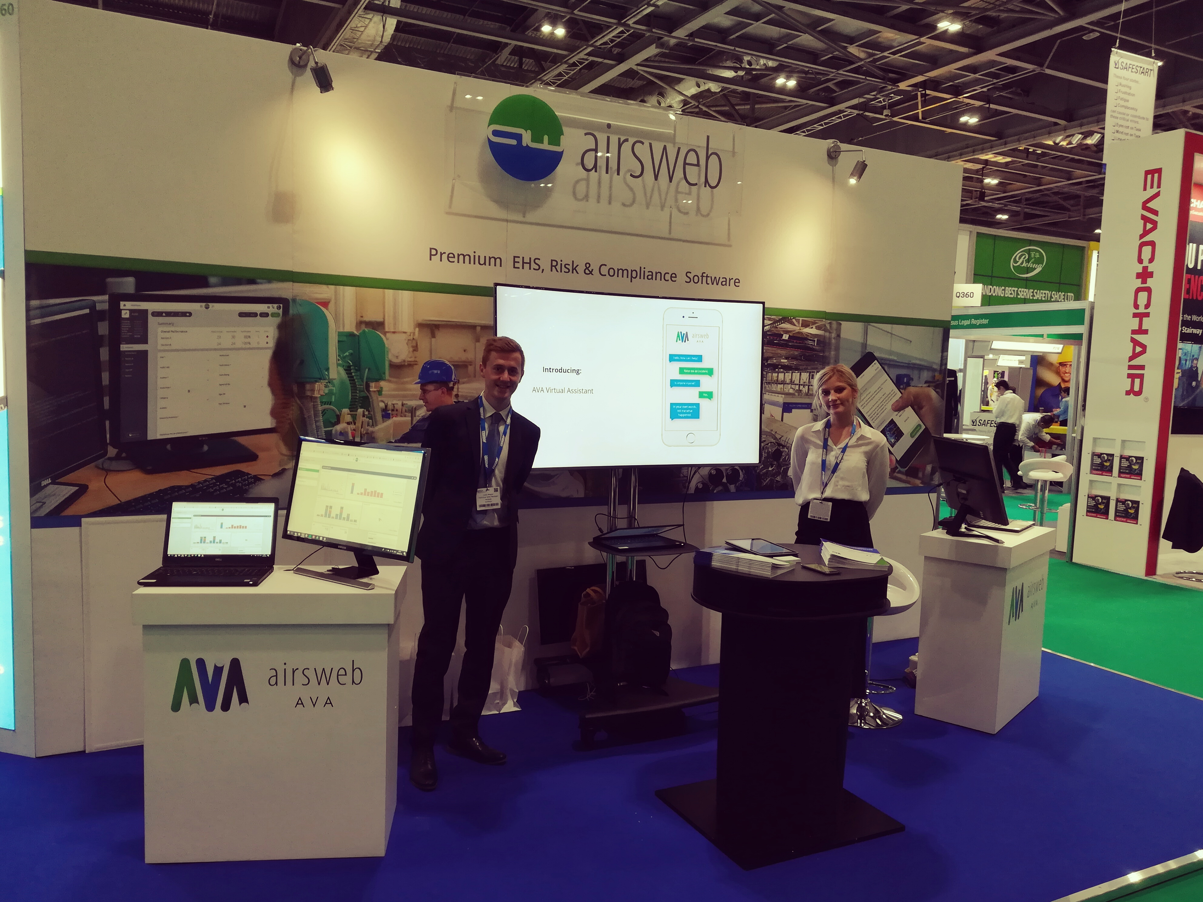 Airsweb stand at the Safety & Health Expo