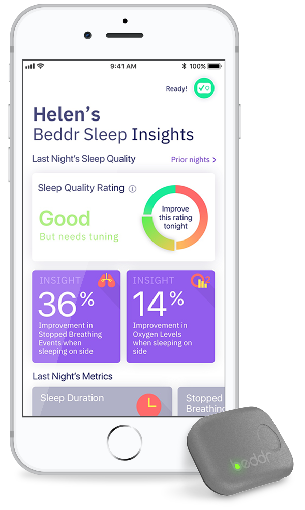 Beddr | Wearable Sleep Tracking, Monitoring, & Analysis Device