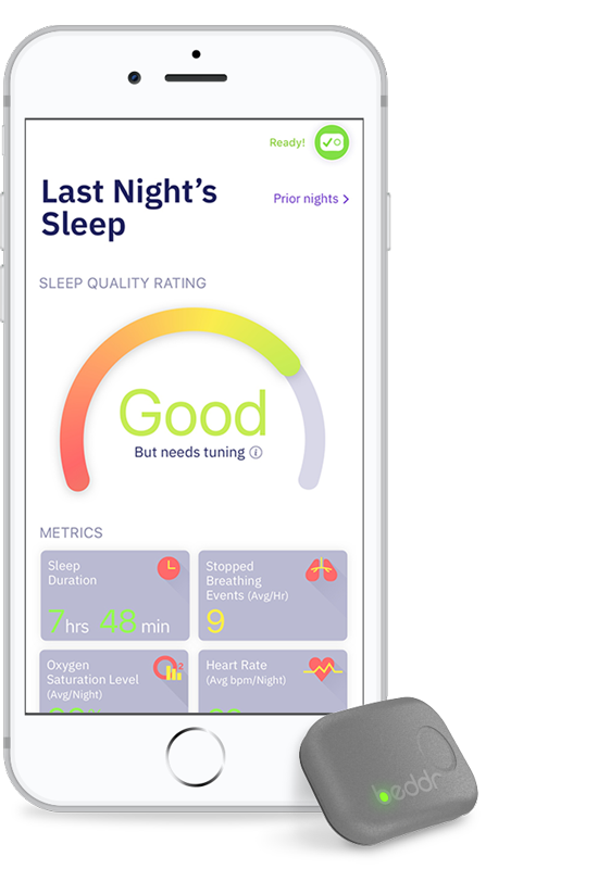 Screenshot of Beddr sleep tracker application