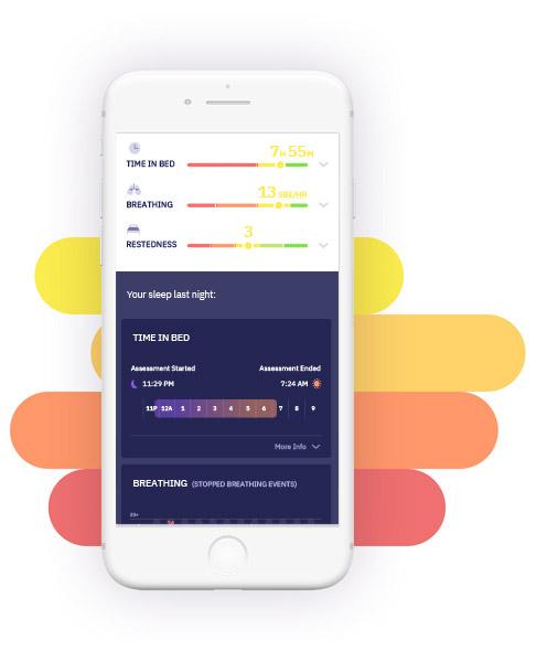 Beddr mobile app showing Sleep Duration metrics