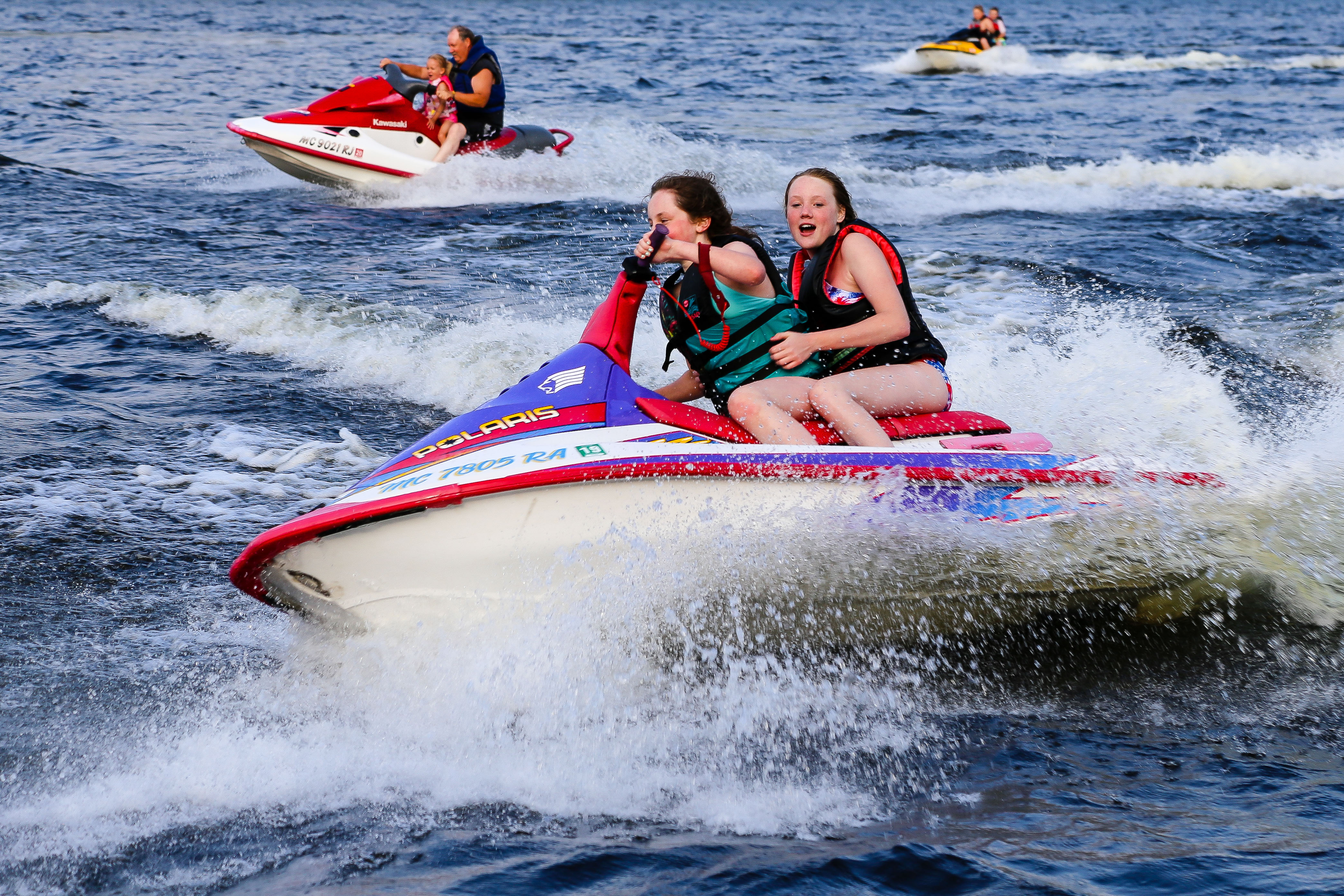 Jet Skiing at the Wilderness Resort in Lac La Belle Michigan