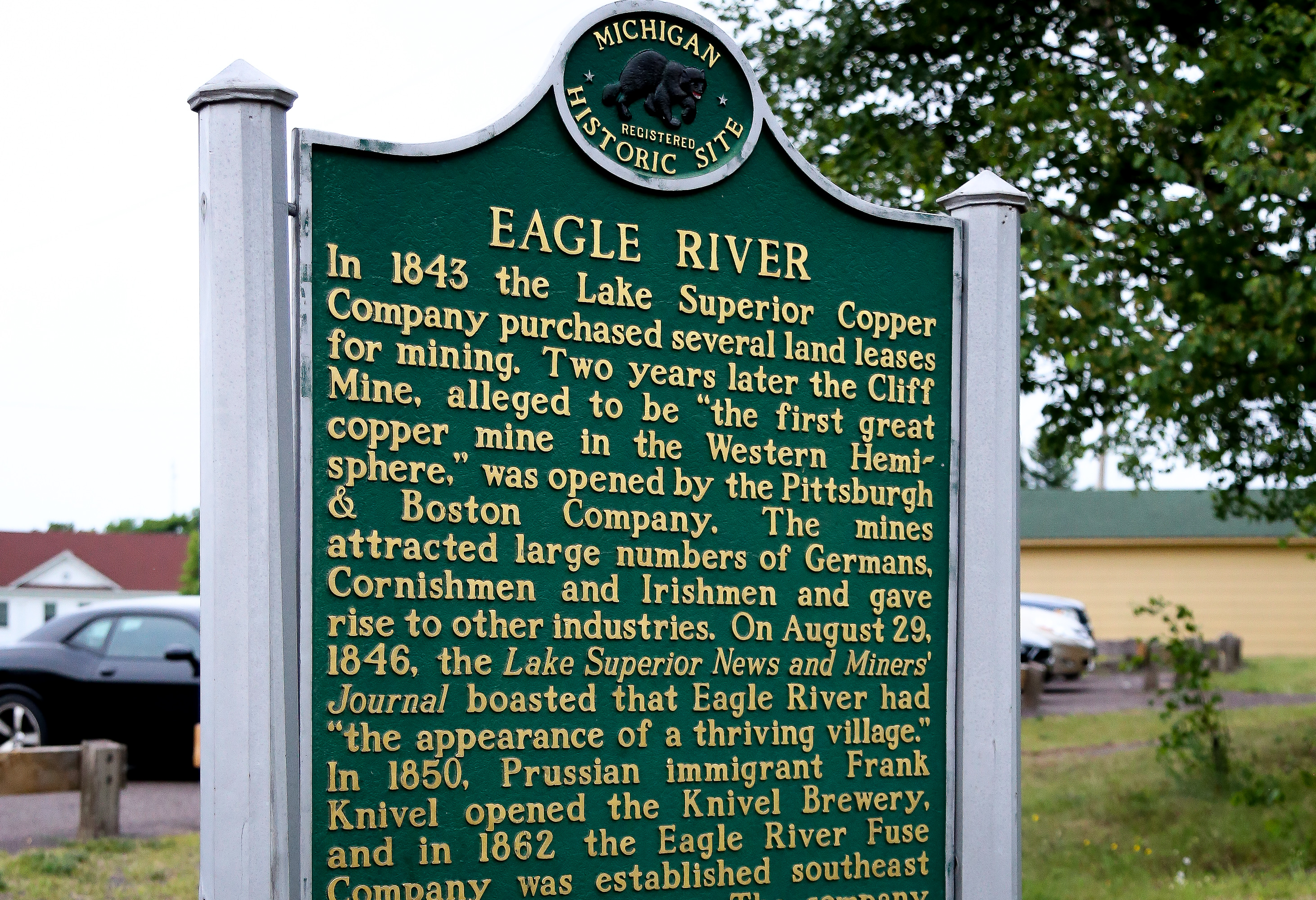Local Keweenaw County history near the Wilderness Resort in Lac La Belle Michigan