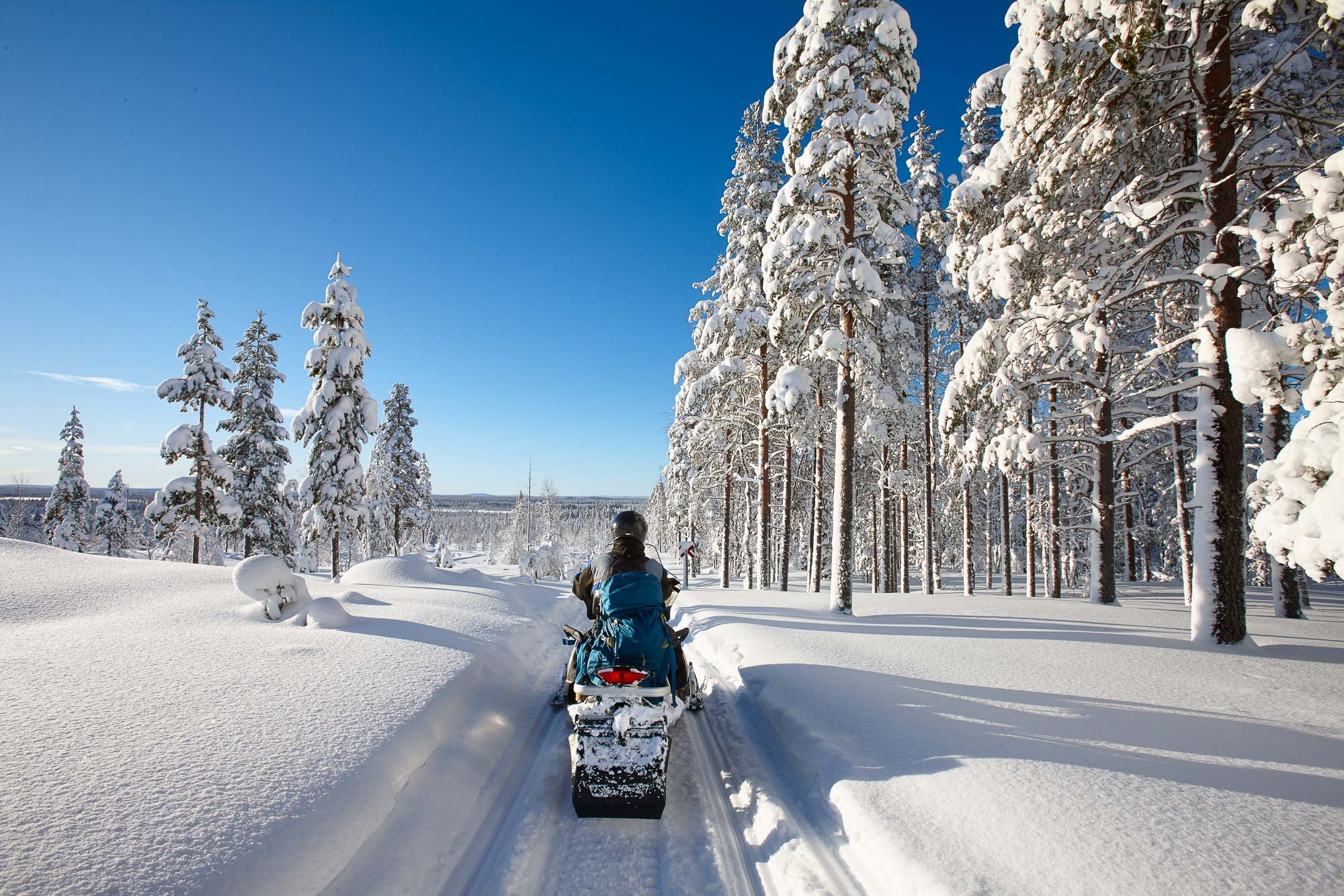 Snowmobiling in Lac La Belle near the Wilderness Resort