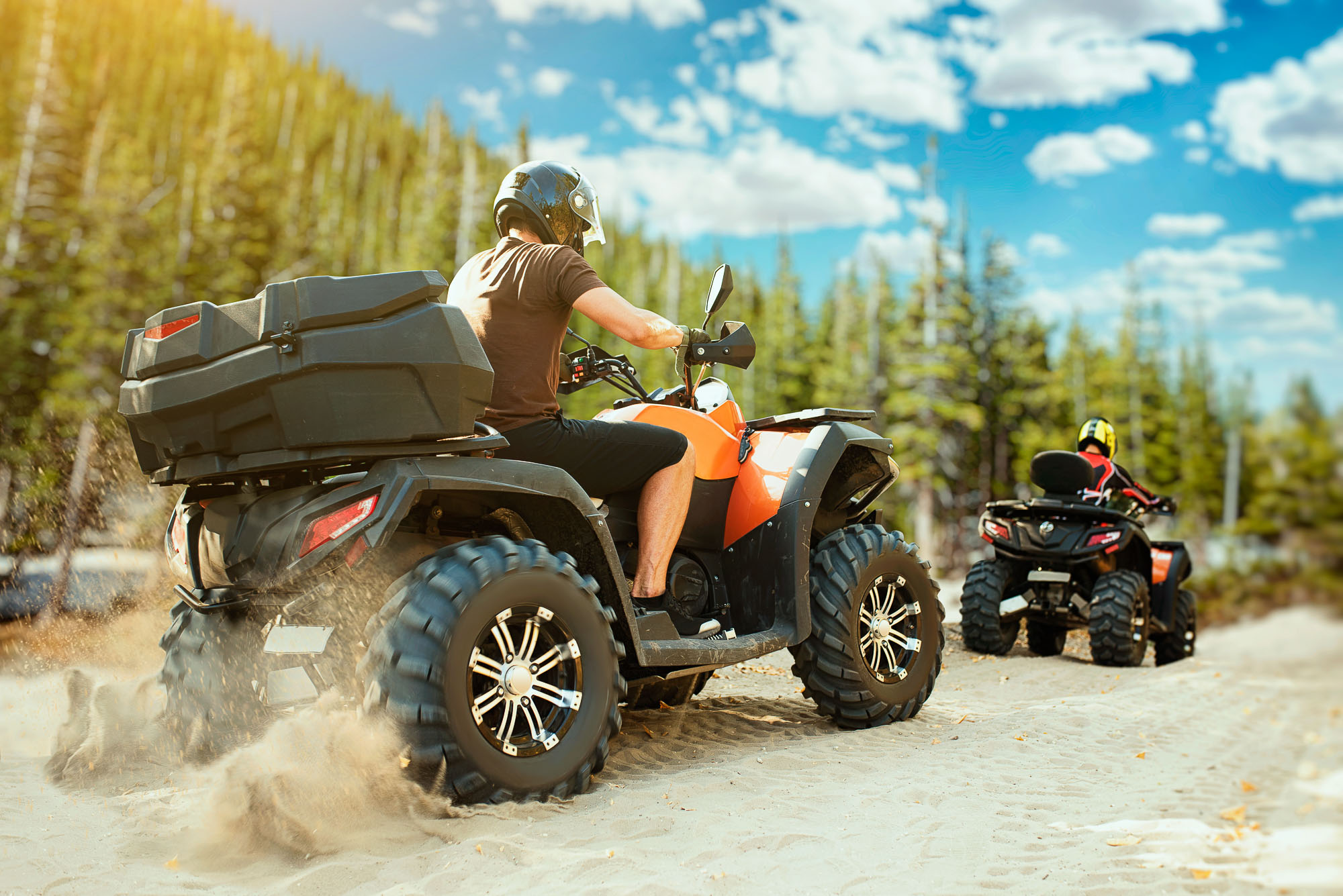 ATVing in Lac La Belle near the Wilderness Resort