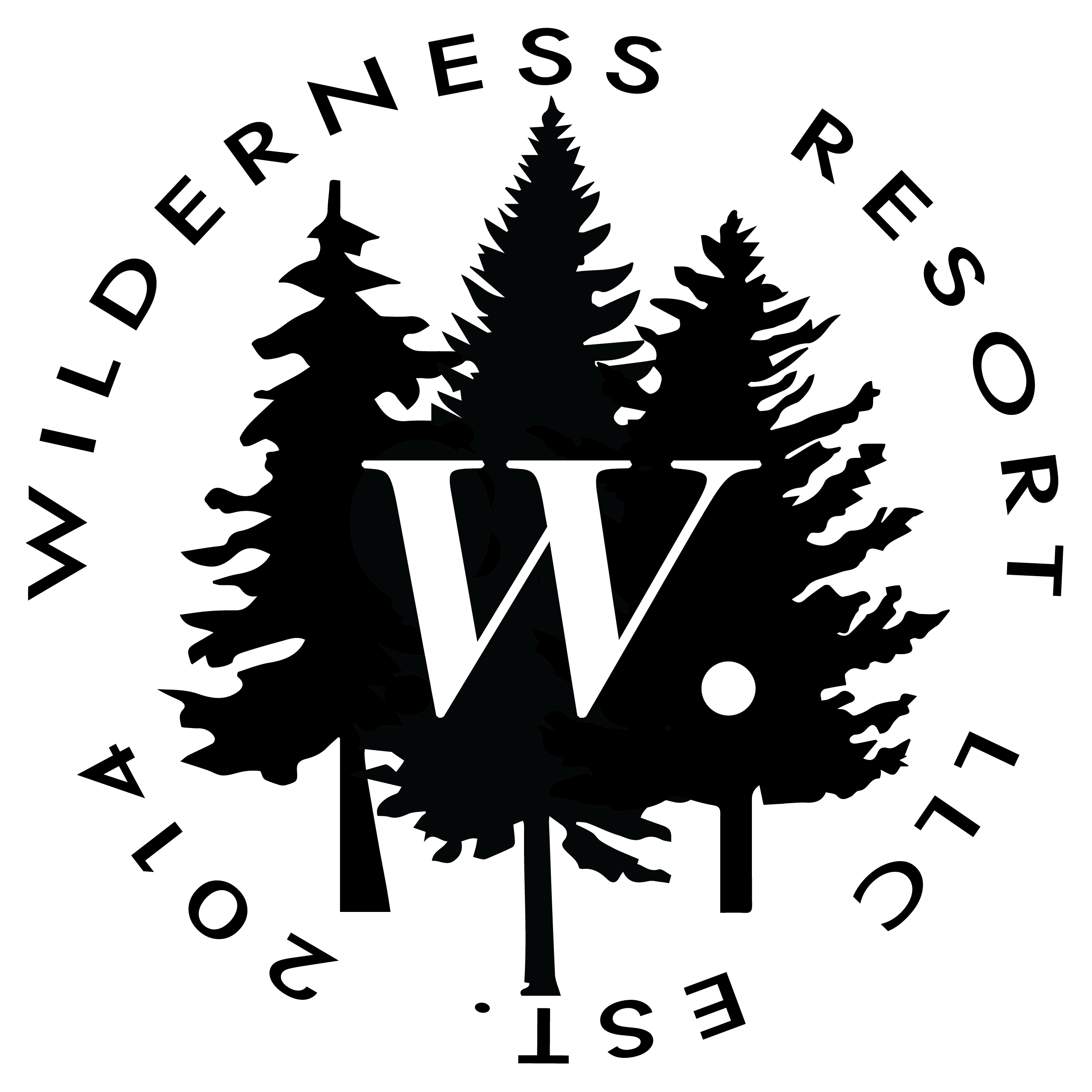 Brand Badge Wilderness Resort LLC Est. 1970 Logo