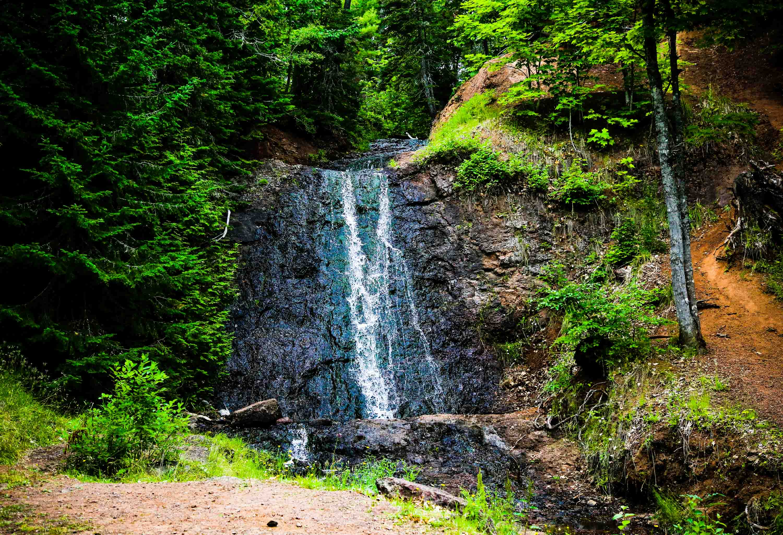 Photo of Haven Falls located near the Wilderness Resort in Lac La Belle Michigan