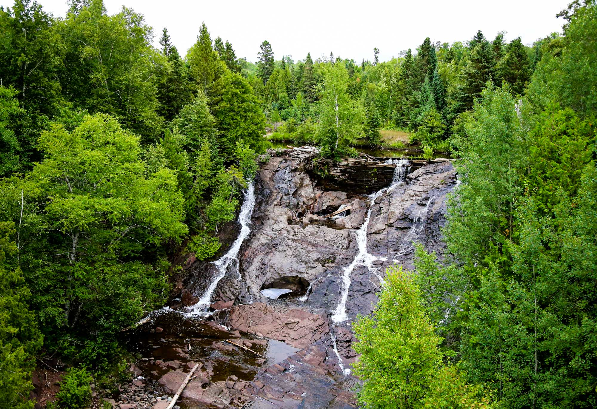 Photo of Eagle River Falls located near the Wilderness Resort in Lac La Belle Michigan