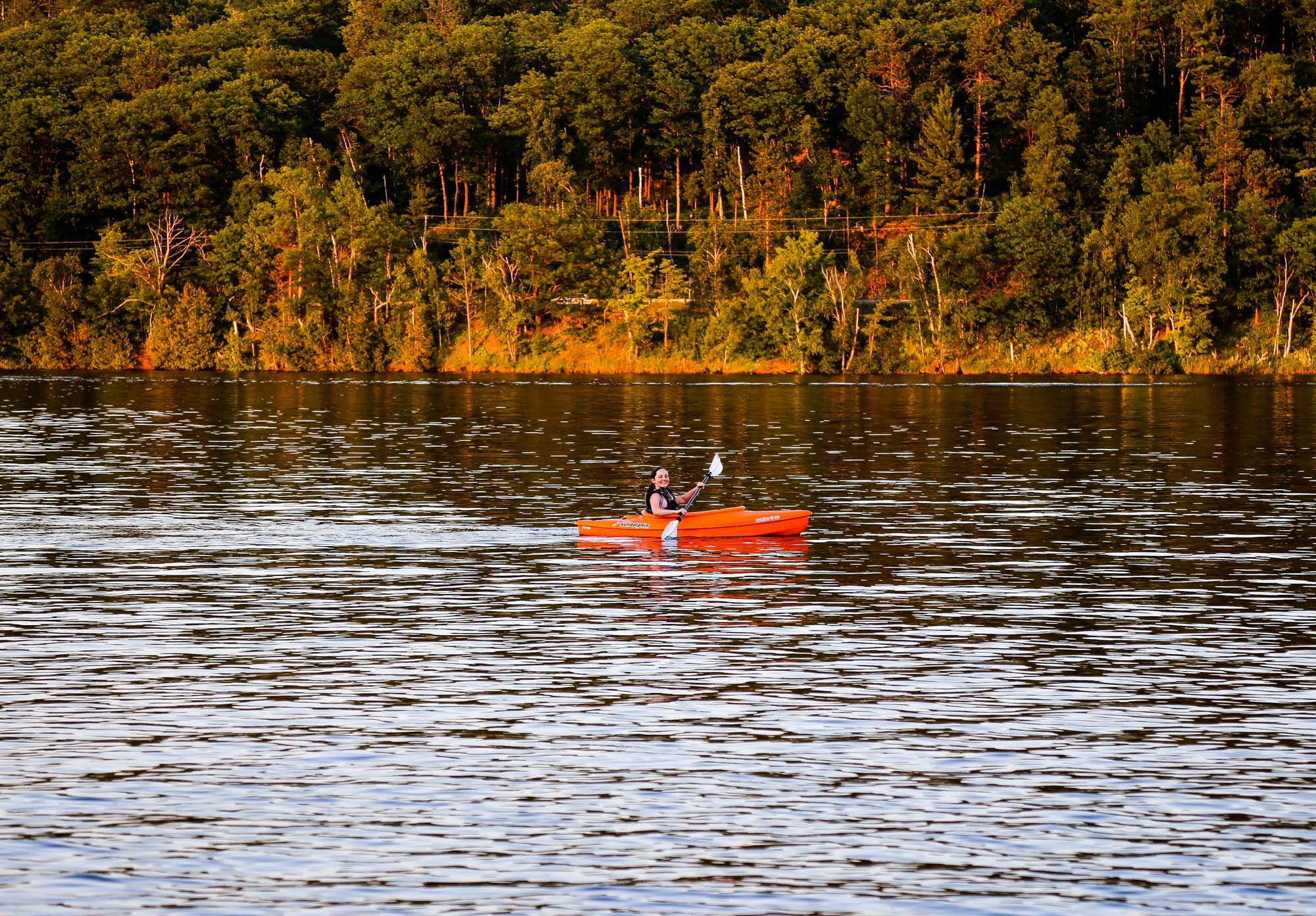 Kayaking at the Wilderness Resort in Lac La Belle Michigan