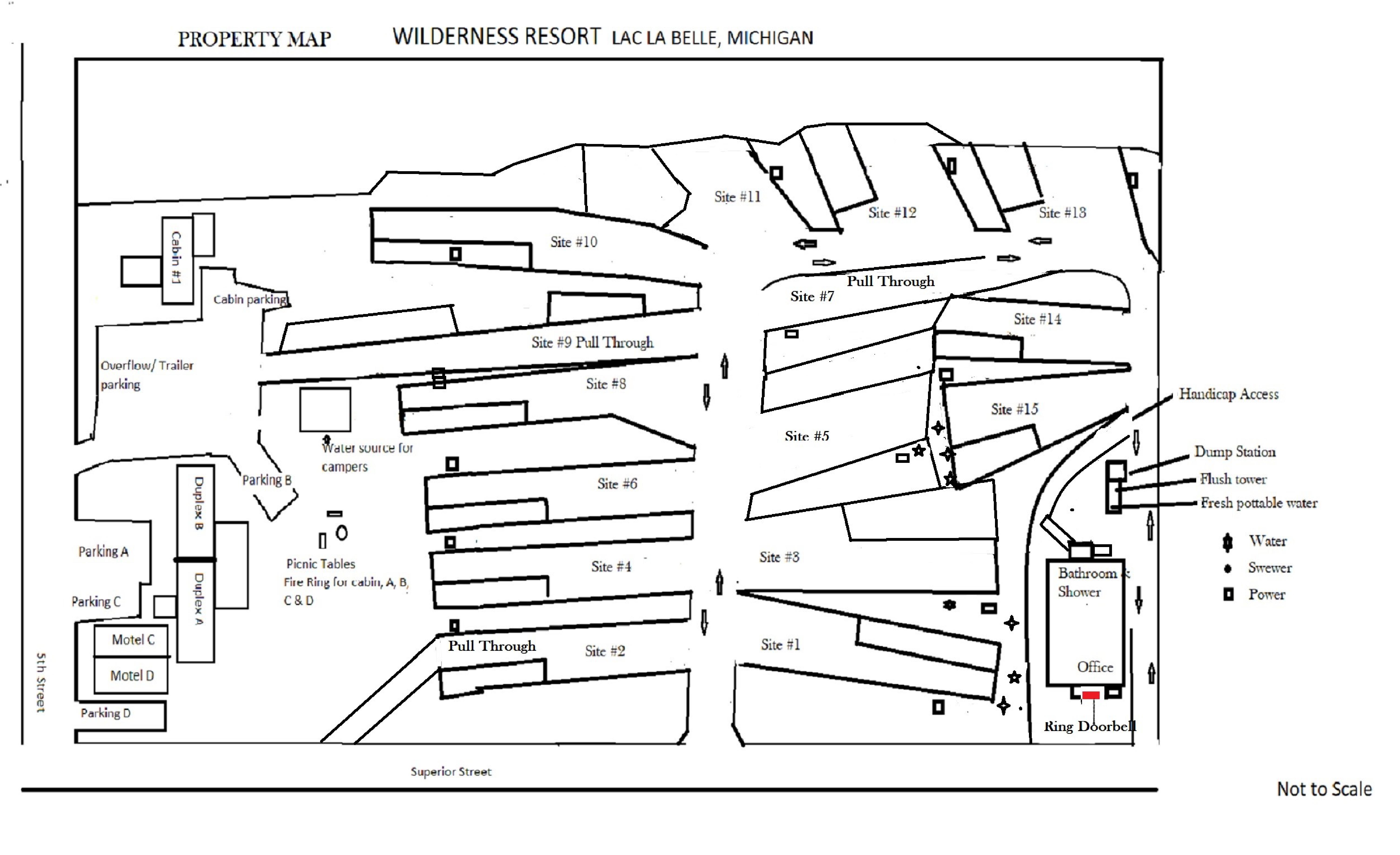 Wilderness Resort Property Map