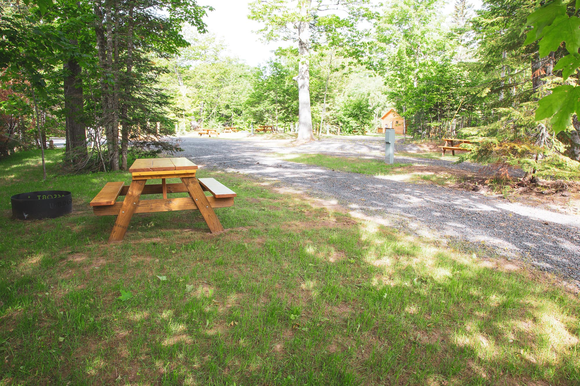 Photo of Campground Site 9 at the Wilderness Resort in Lac La Belle Michigan