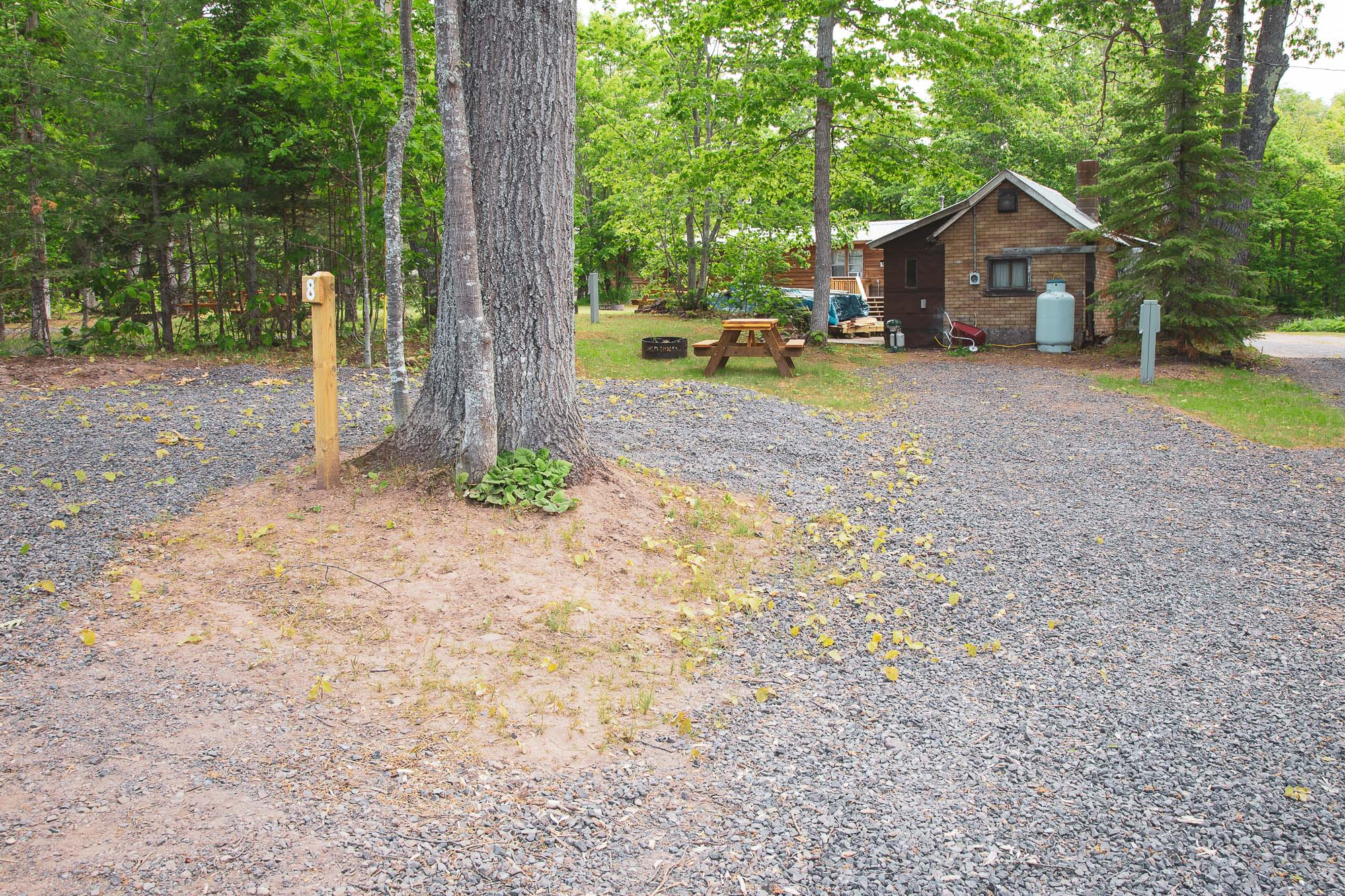 Photo of Campground Site 8  at the Wilderness Resort in Lac La Belle Michigan