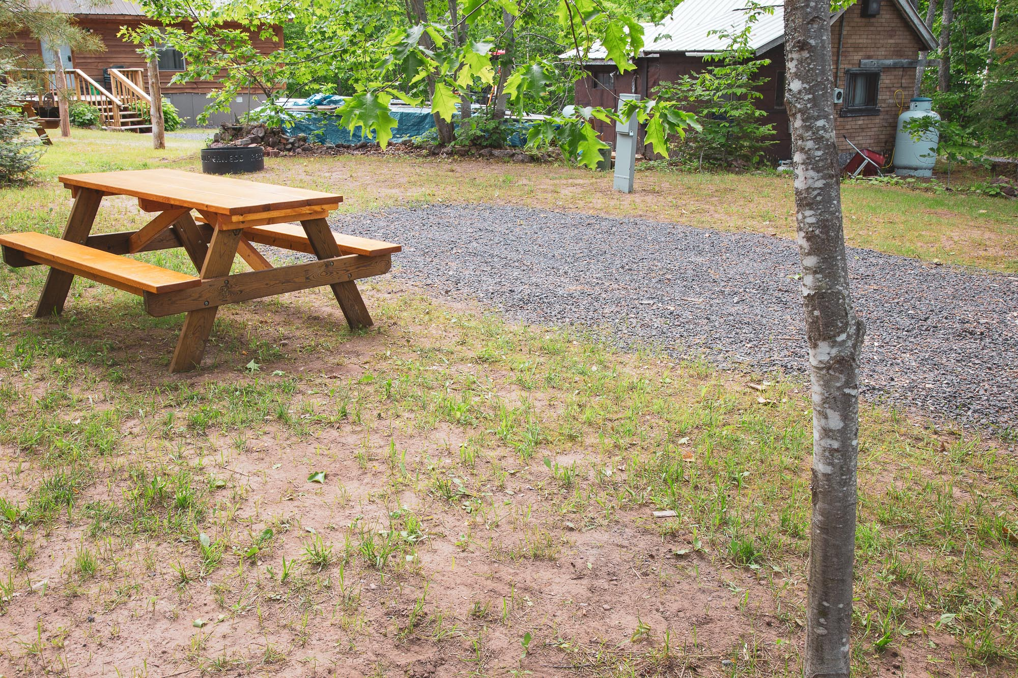 Photo of Campground Site 6 at the Wilderness Resort in Lac La Belle Michigan