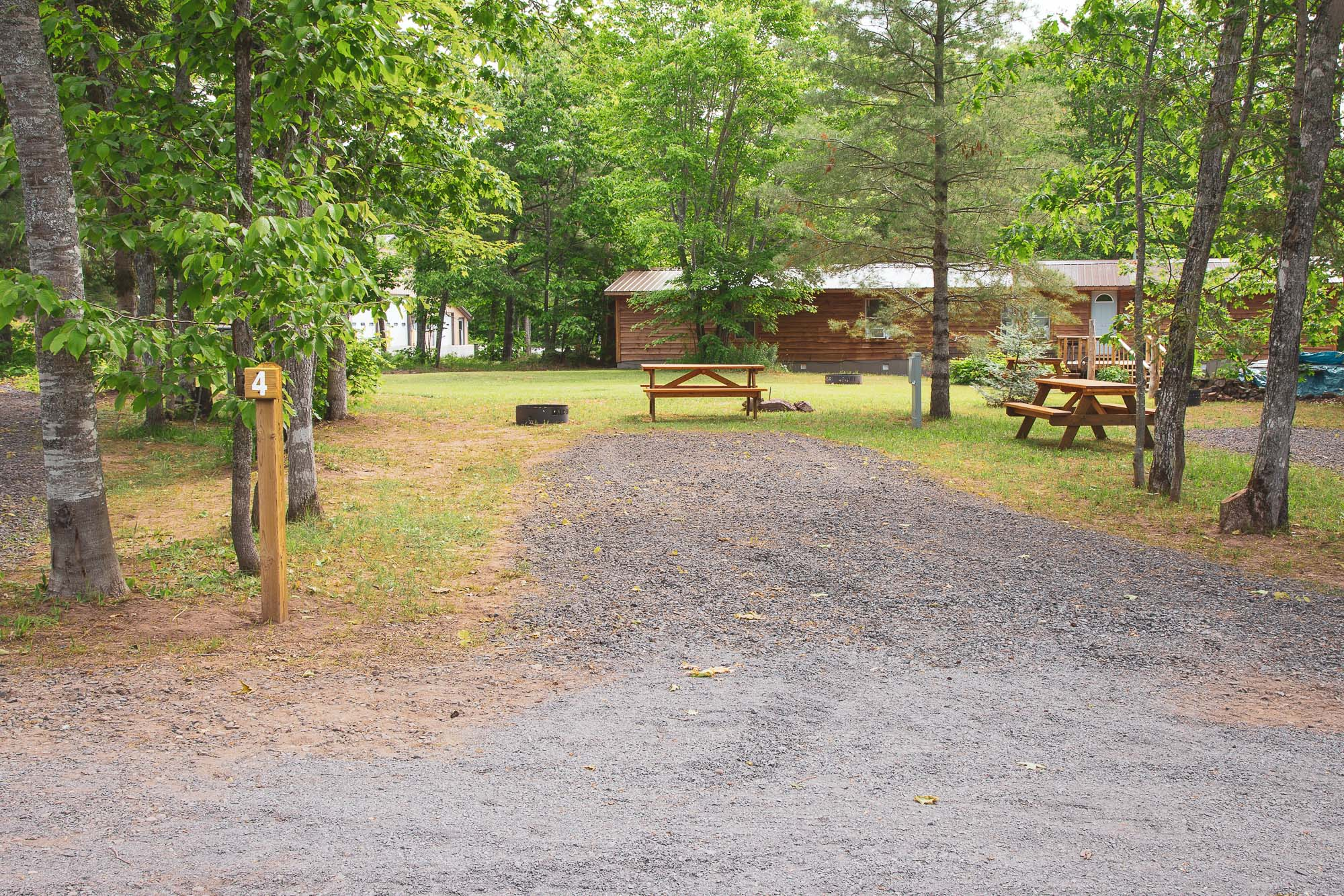 Photo of Campground Site 4 at the Wilderness Resort in Lac La Belle Michigan