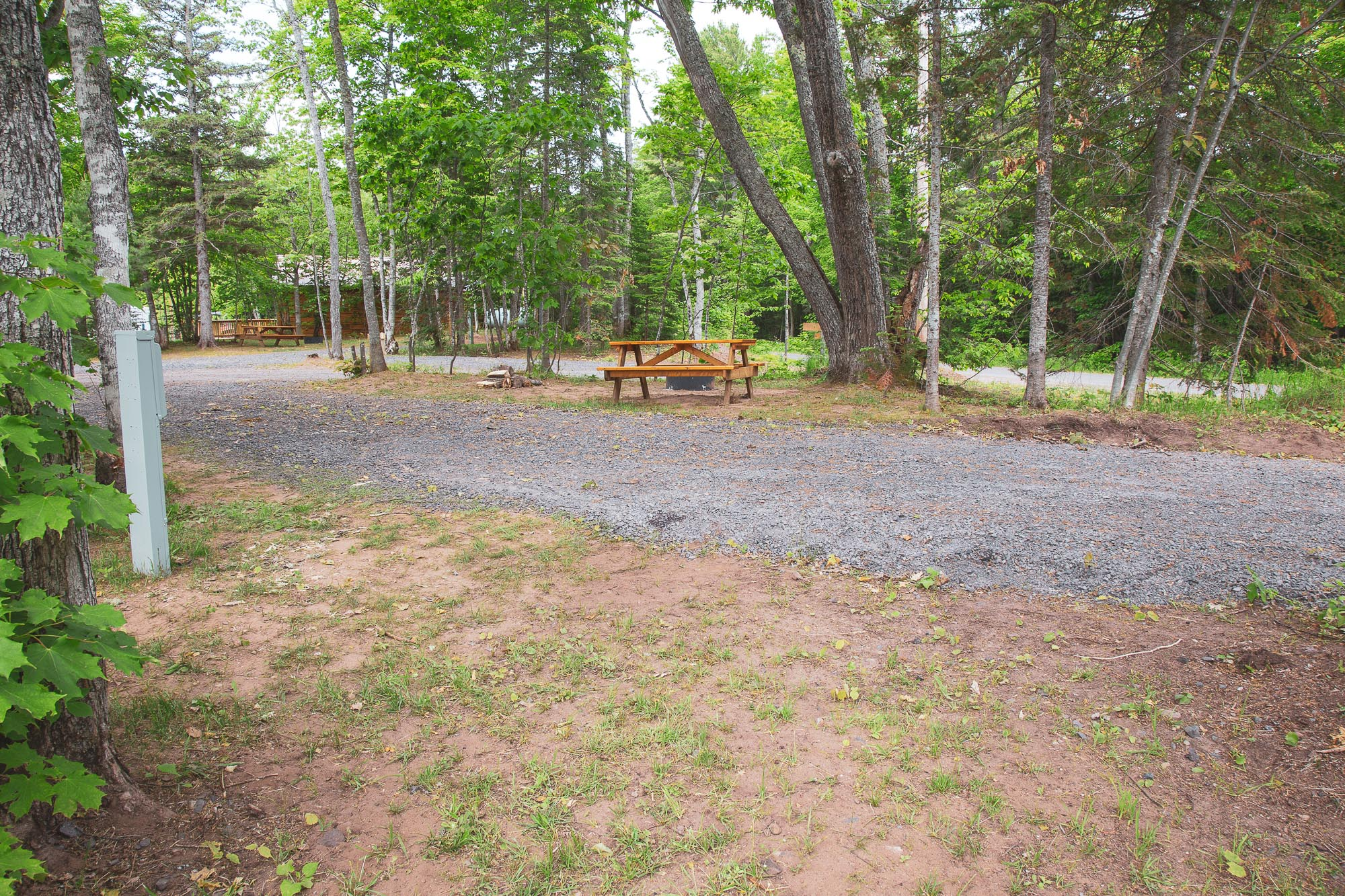 Photo of Campground Site 2 at the Wilderness Resort in Lac La Belle Michigan