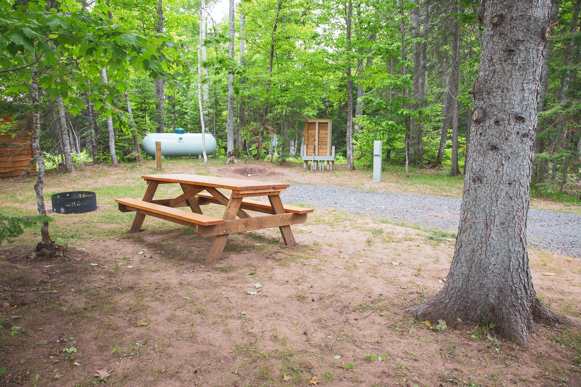 Photo of Campground Site 1 at the Wilderness Resort in Lac La Belle Michigan