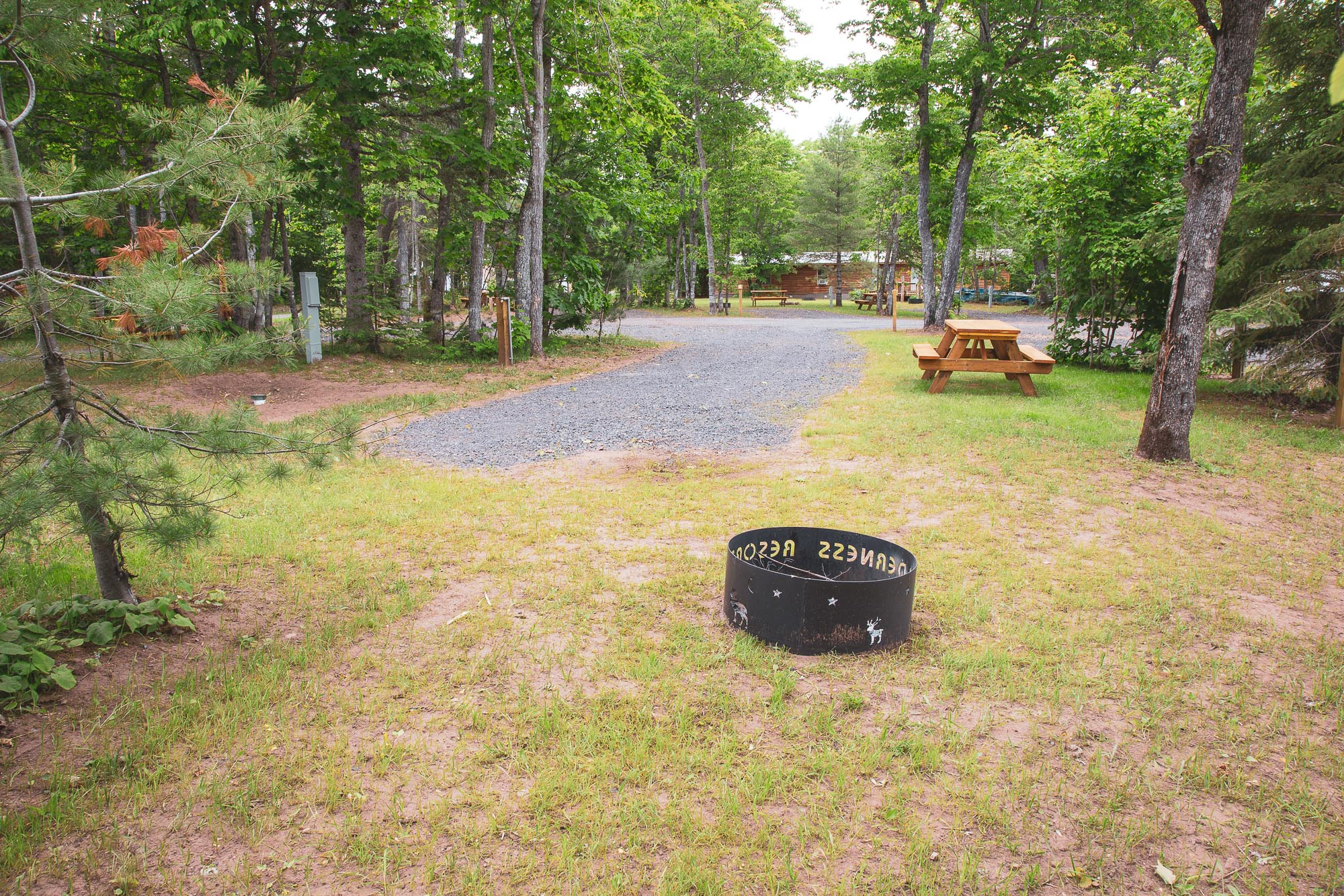 Photo of Campground Site 3 at the Wilderness Resort in Lac La Belle Michigan