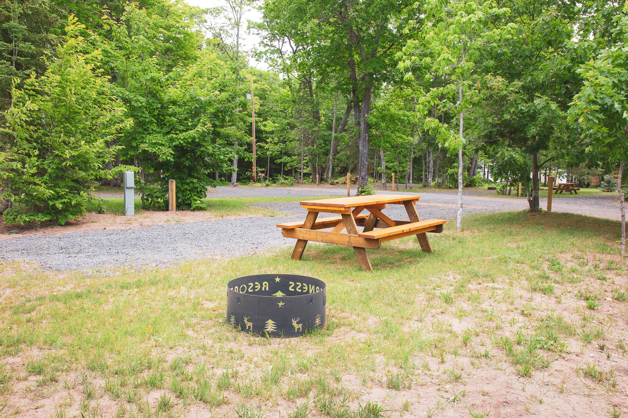Photo of Campground Site 5 at the Wilderness Resort in Lac La Belle Michigan