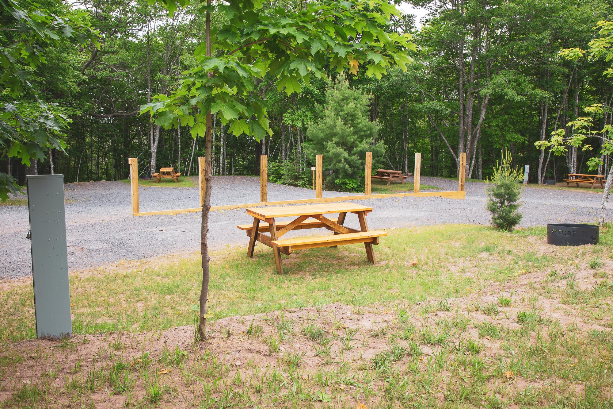 Photo of Campground Site 7  at the Wilderness Resort in Lac La Belle Michigan