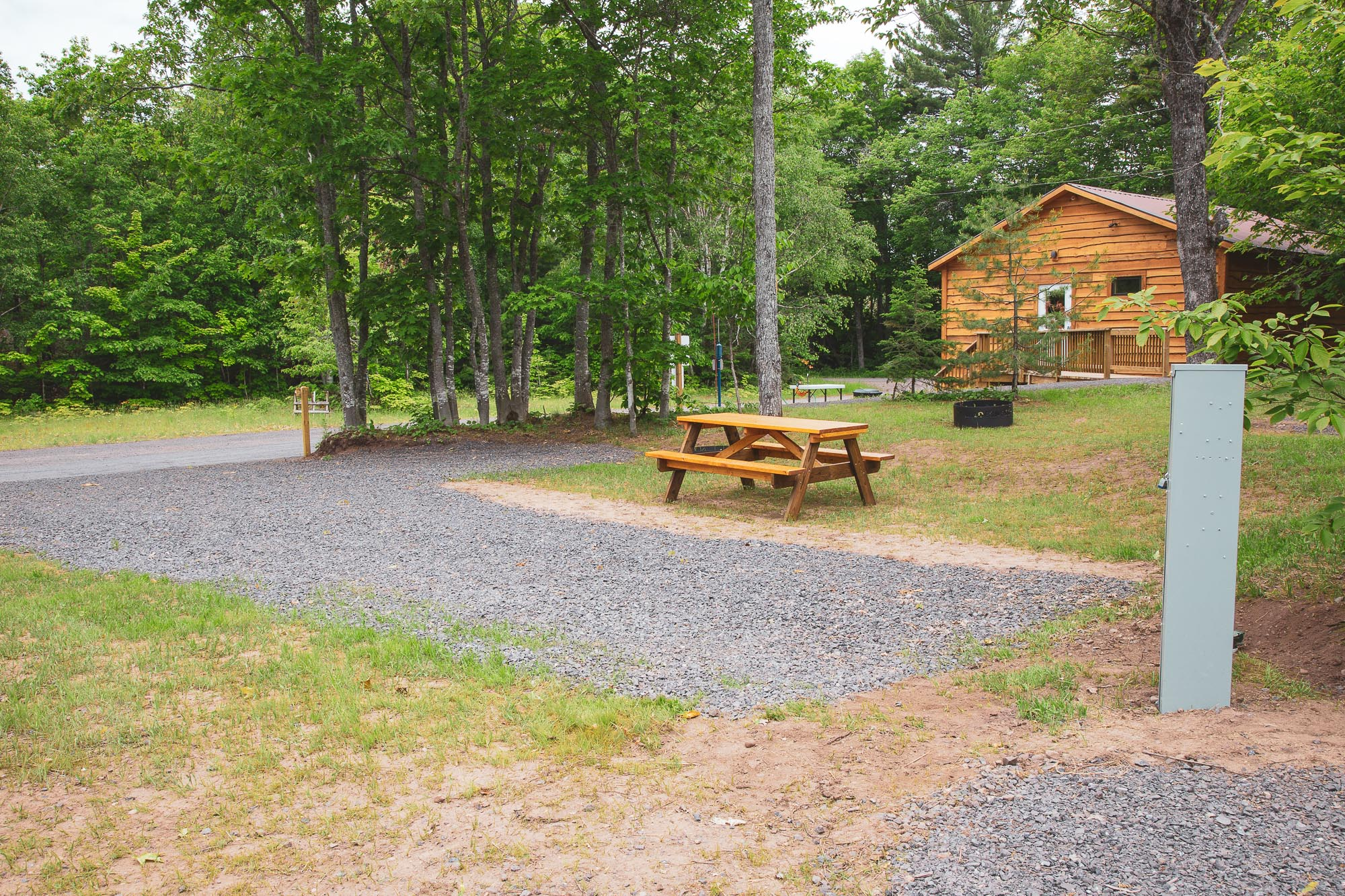 Photo of Campground Site 15  at the Wilderness Resort in Lac La Belle Michigan