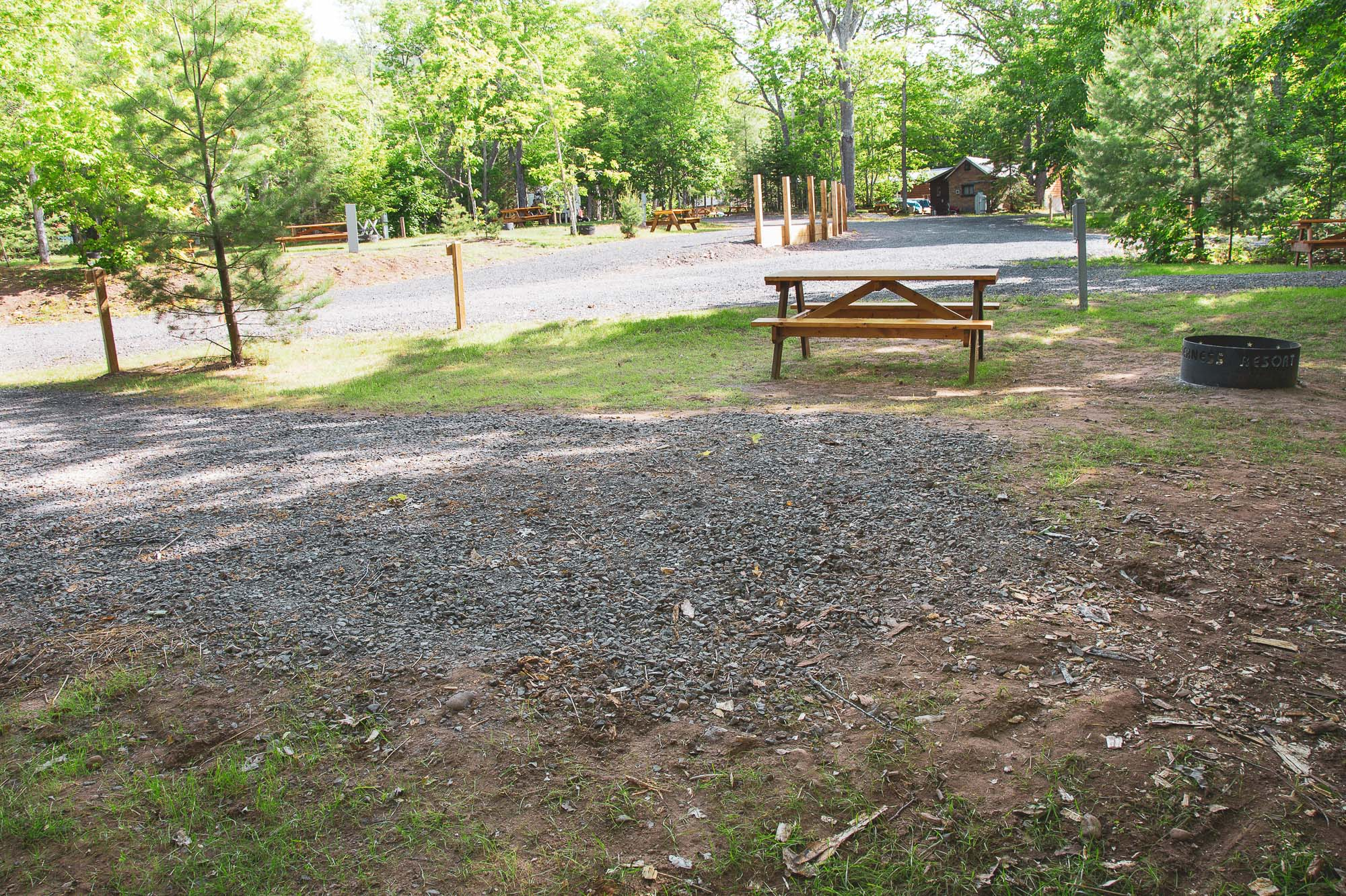 Photo of Campground Site 13 at the Wilderness Resort in Lac La Belle Michigan