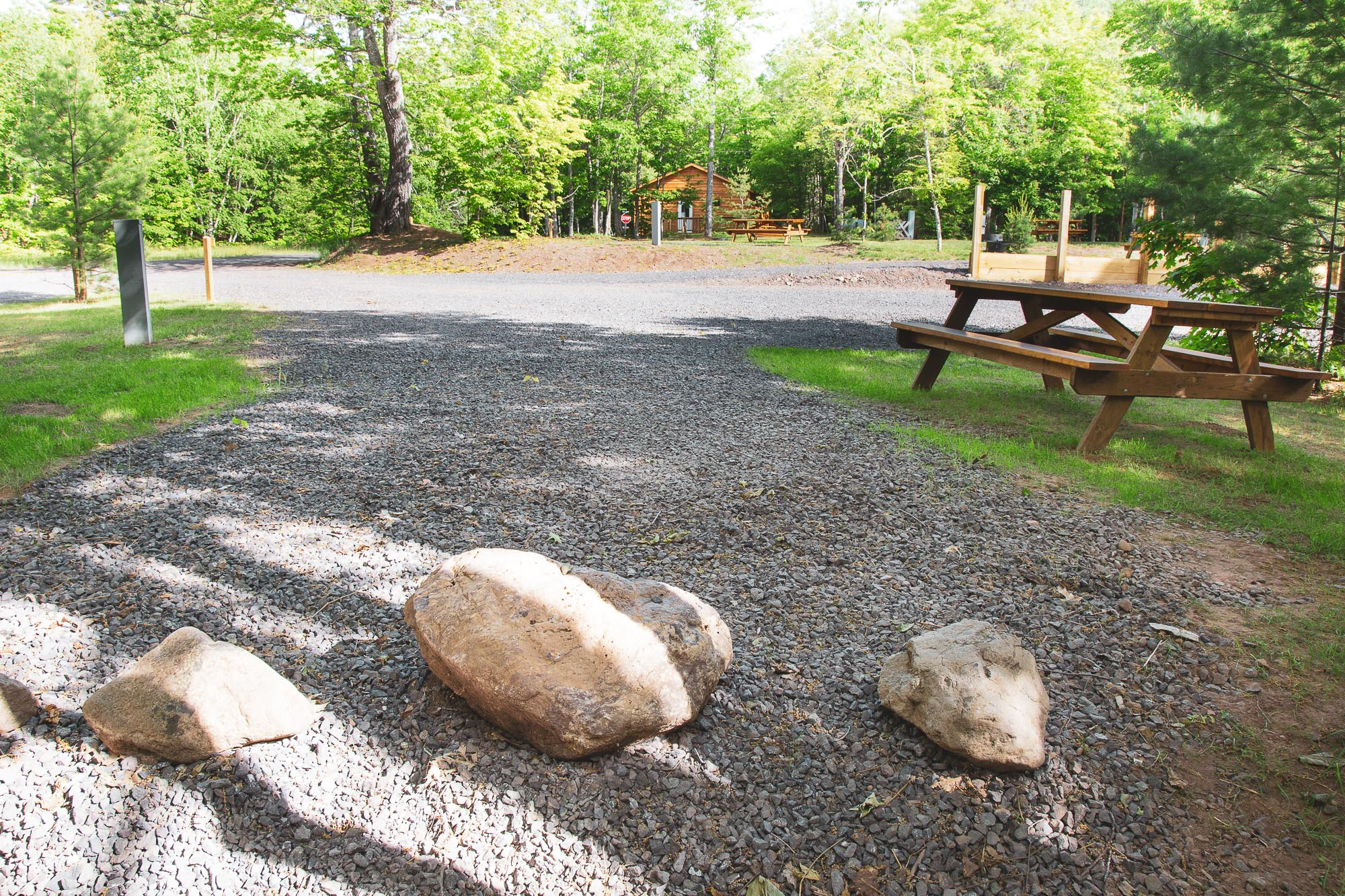 Photo of Campground Site 12 at the Wilderness Resort in Lac La Belle Michigan