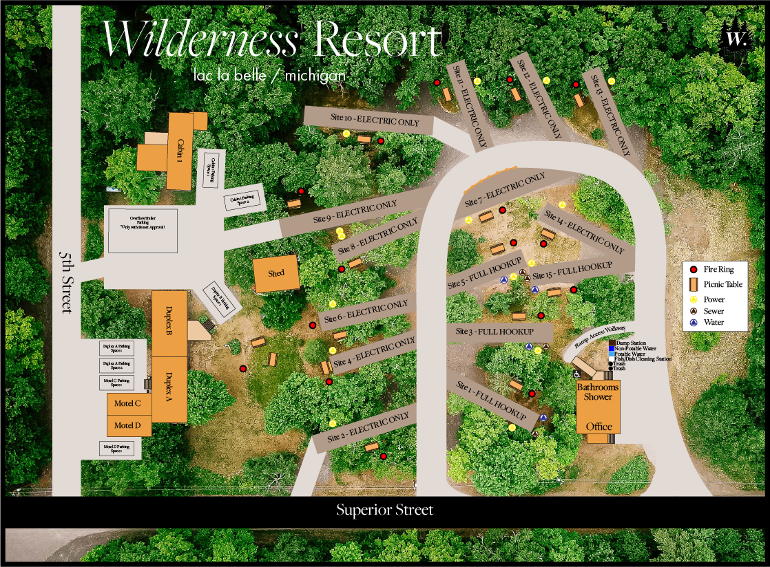 Wilderness Resort LLC Property Map 2020