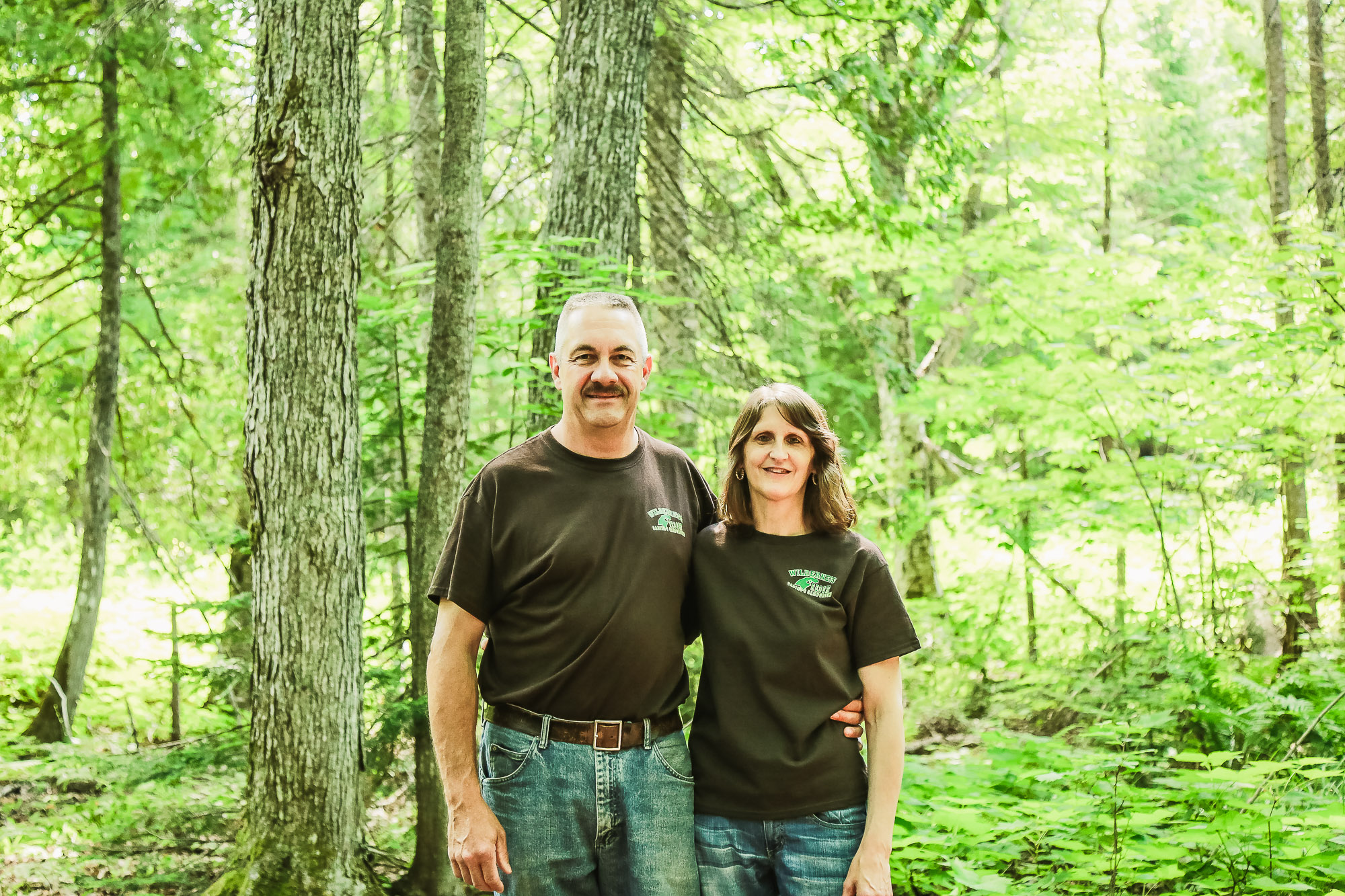 Rick and Michele Olson co-owners of the Wilderness Resort in Lac La Belle Michigan