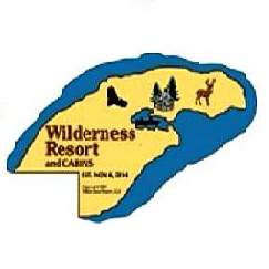Old logo of the Wilderness Resort in Lac La Belle Michigan