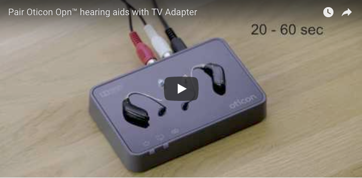 Pair Oticon Opn™ hearing aids to TV Box