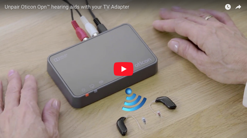 Unpair Oticon Opn™ hearing aids to TV Box