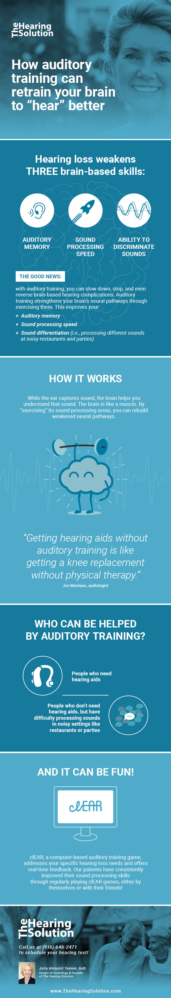 Auditory Training to Retrain Your Brain Infographic - The Hearing Solution