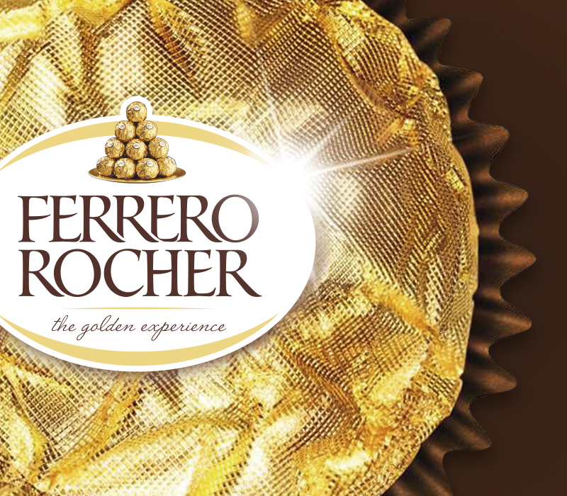This is a close up of a Ferrero Rocher chocolate. Pemberton & Whitefoord LLP has been working with Ferrero for many years and this is one of the brands we have helped produce e-commerce, packaging, brochure, advertising and more for.