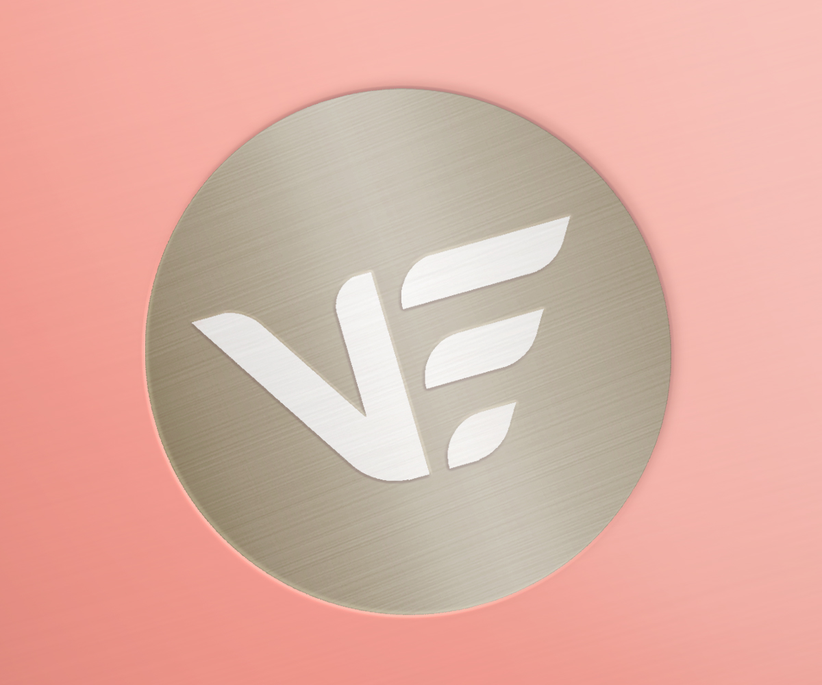Vitasmart Logo embossed - 20 years research - designed by P&W
