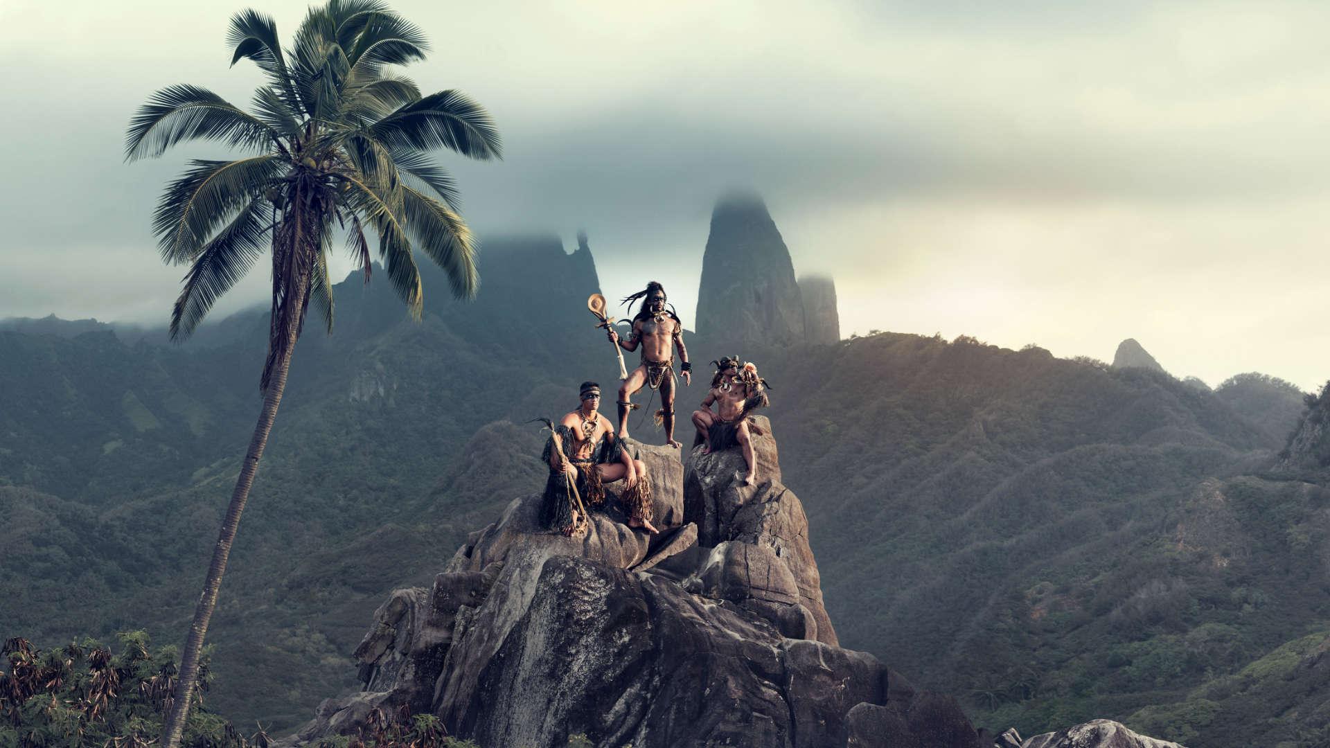 Hiva Oa stam, Marquesas-eilanden, Frans-Polynesië