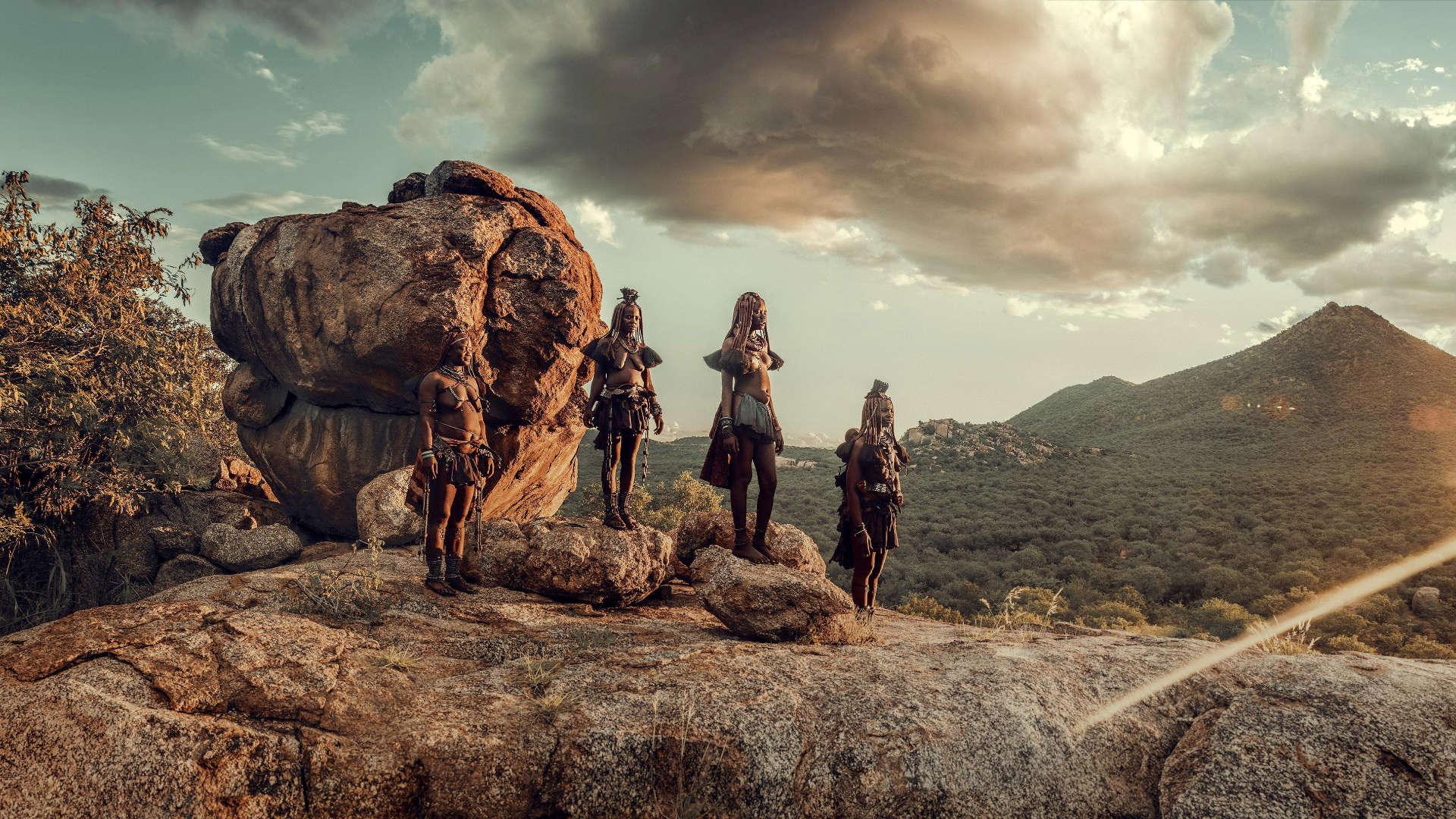 Muchimba stam, Himba, Angola