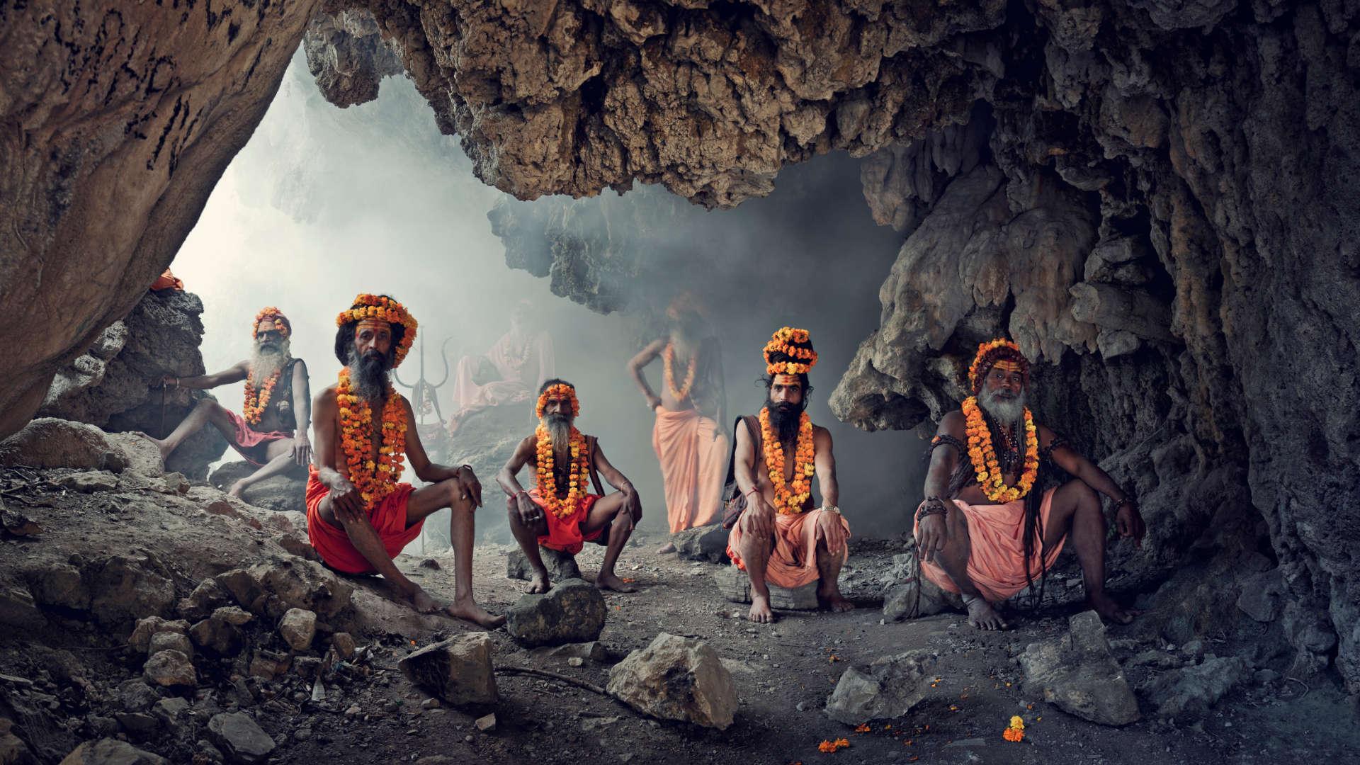 Sadhu stam, Haridwar, India