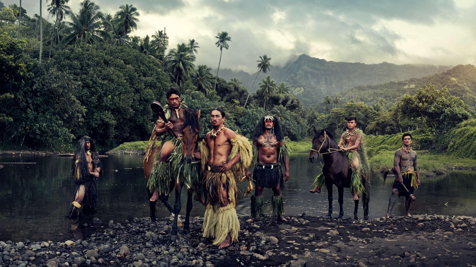 Hiva Oa stam, Marquesaseilanden. Frans-Polynesië