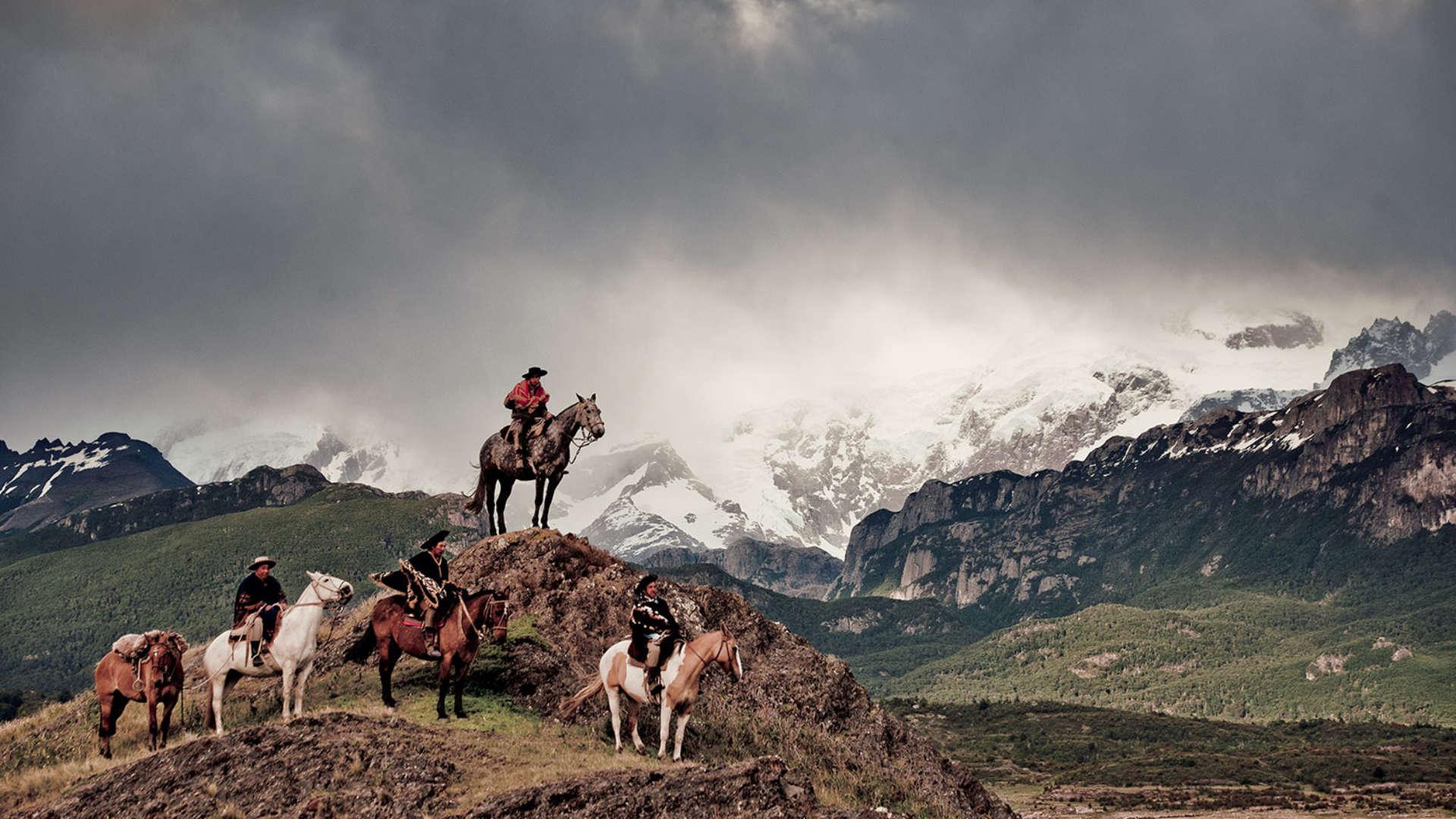 Gauchos stam, Patagonië, Argentinië