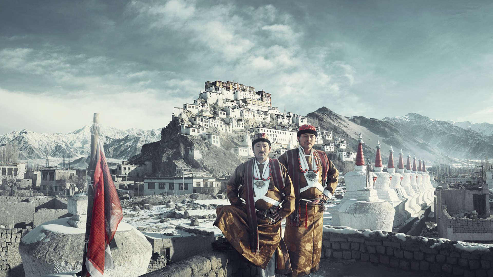 Ladakh stam, Lekir, India