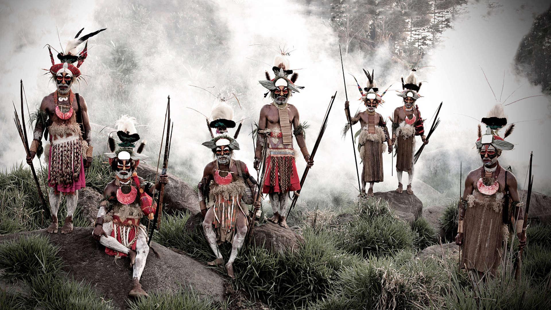 Goroka stam, Jalibu gebergte, Papoea-Nieuw-Guinea