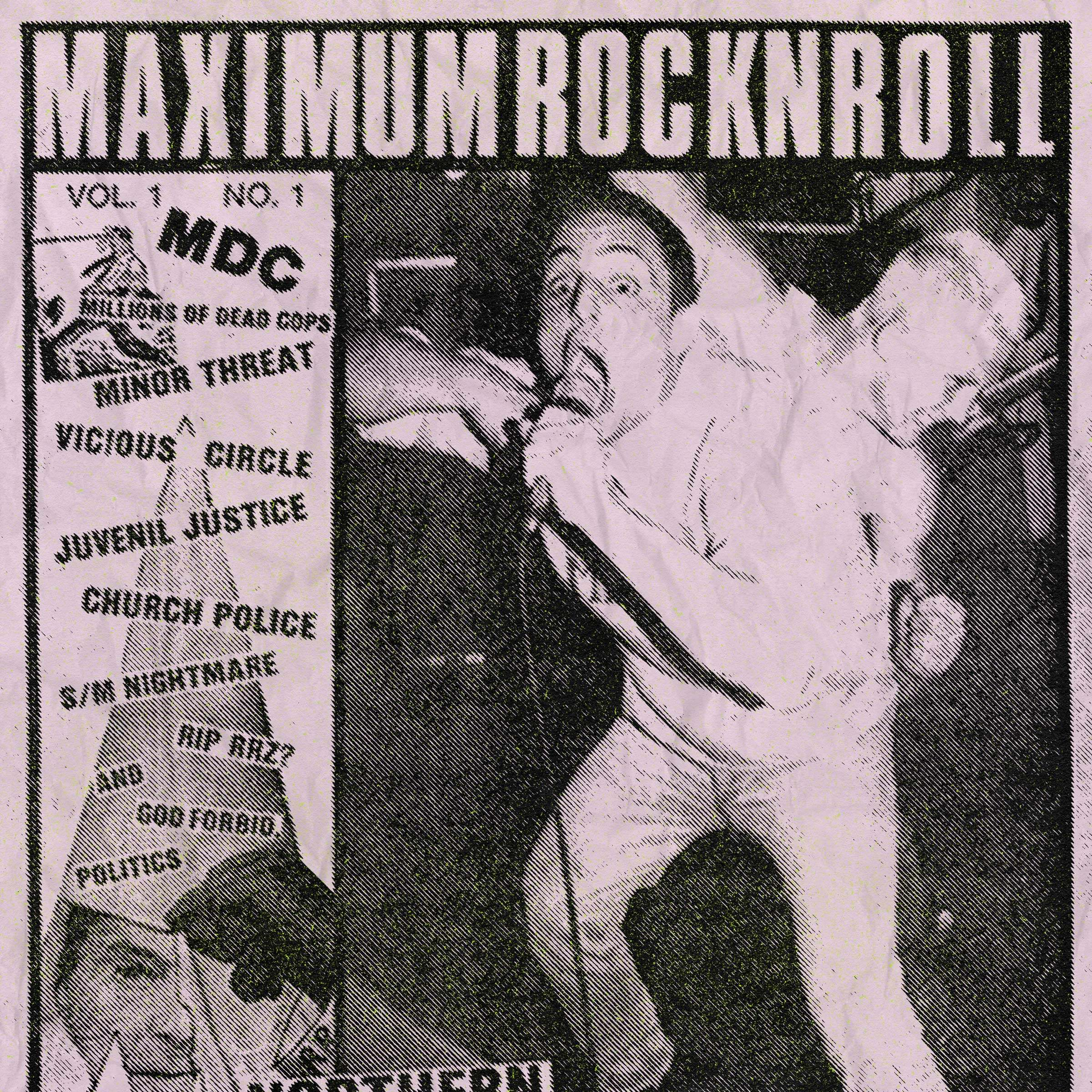 Maximum Rock n Roll magazine cover.