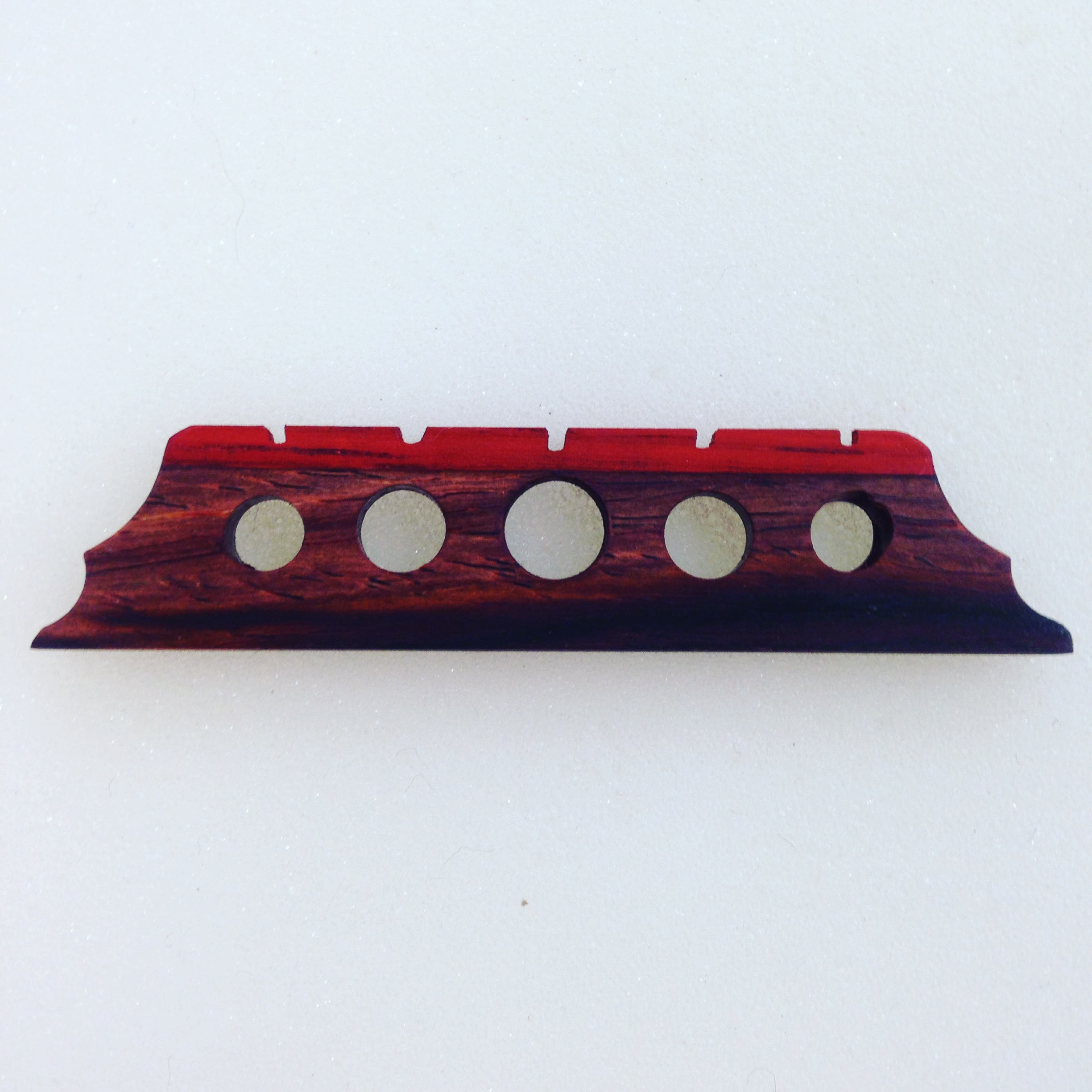 Black and Red Banjo Bridge