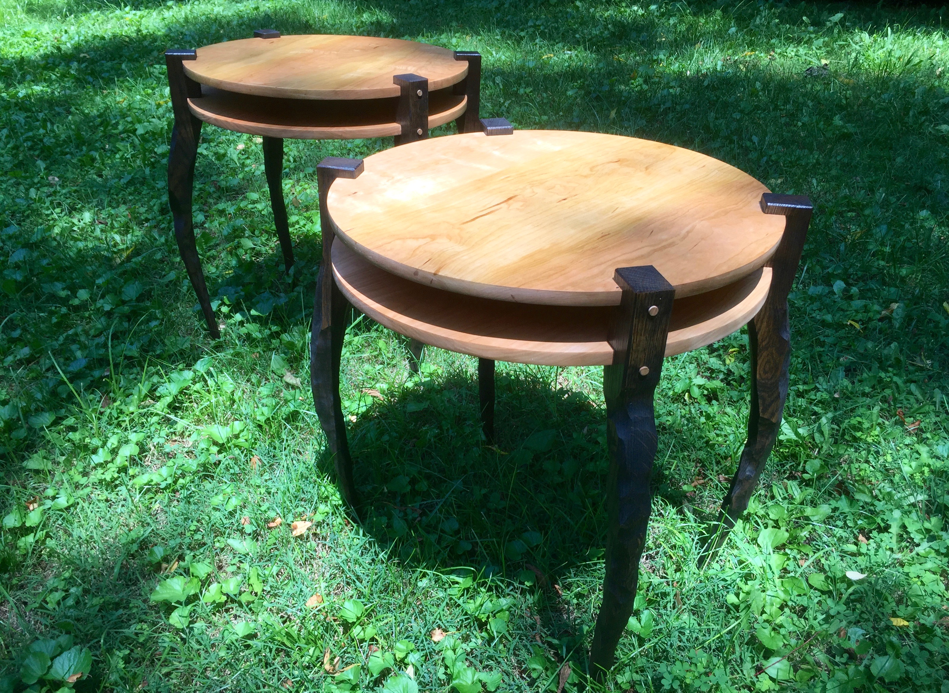 Sculpted End Tables