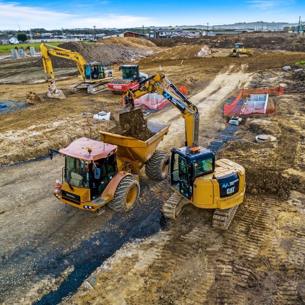 Papakura - Clevedon road development, civil works.