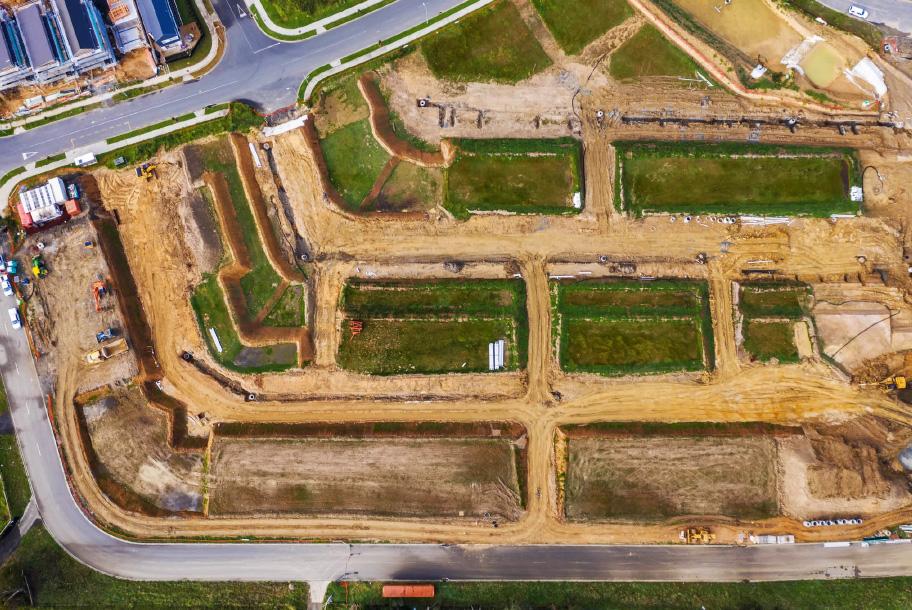 Halls Farm week 13 subdivision development